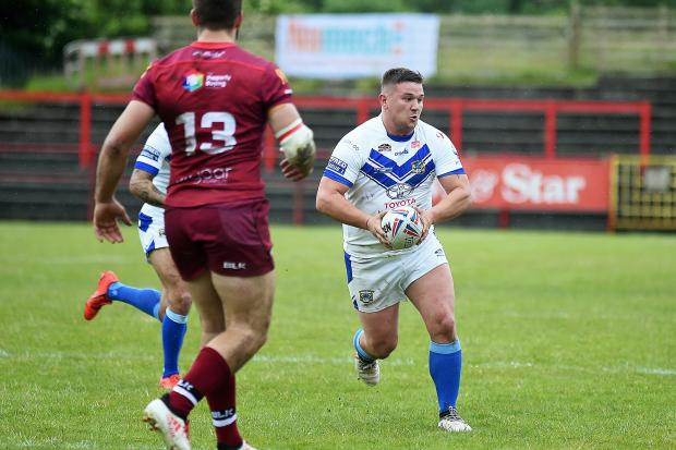 talent: Workington Town's Jamie Doran looks to offload against Coventry		           Picture: Mike McKenzie