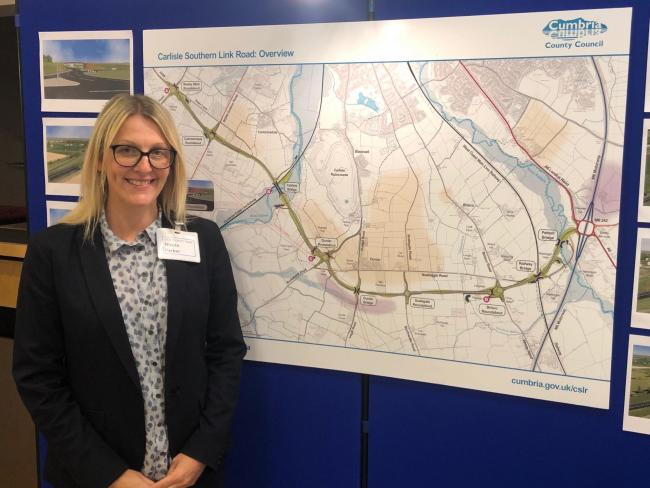 CONSULTATION:  Nicola Parker, southern link road manager from Cumbria county council                 Picture: Kris Tatum