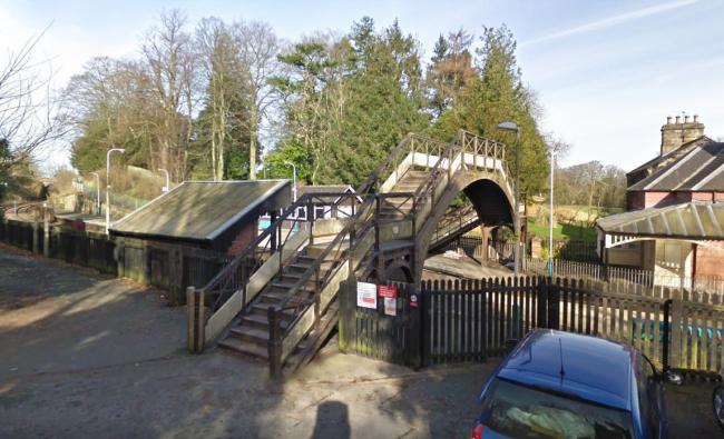 SCENE: Wetheral station. The line was blocked between Carlisle and Hexham on Thursday night            Picture: Google Maps