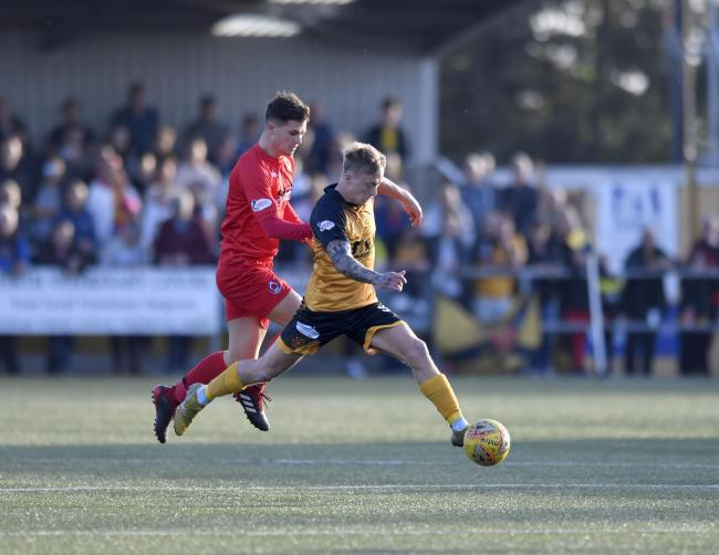 Departures: Aidan Smith, pictured, and defender Scott Hooper, have left Annan for Peterhead this summer (Photo: Stuart Walker)