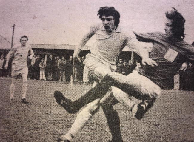 Good cause: Carlisle City will host a charity game in memory of Geoff Bell, pictured in action in the Sky Blues' 1975/76 season, tomorrow