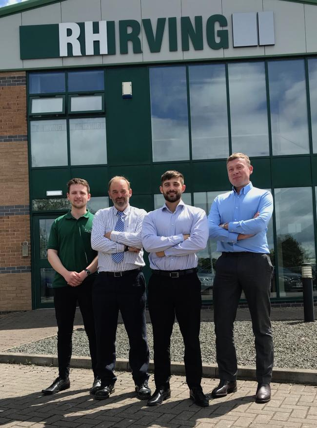 Growing team: New recruits at RH Irving in Longtown.