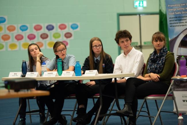 CHANGE: Panel of young environmentalists questioning policymakers on the climate.       Photo by WittWoo Photo