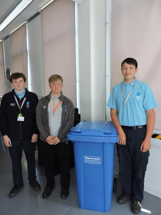 (L-R) Monty, Eddie, Jack are the three students paving the way for green initiatives at the school