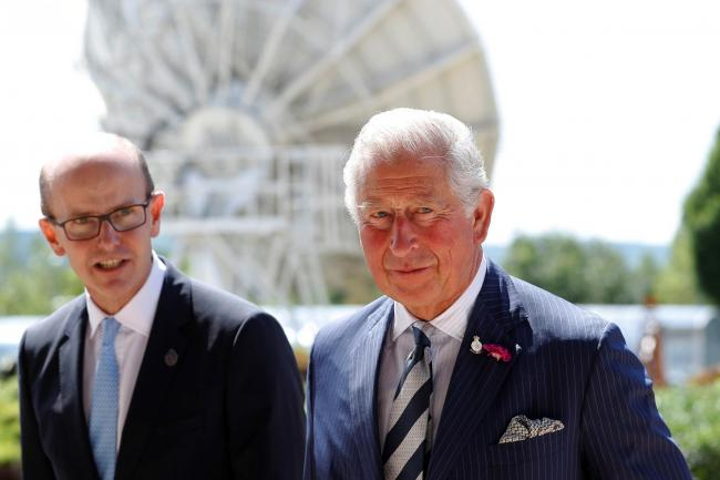 The Prince of Wales, as Patron of the Intelligence Agencies, with Director of GCHQ Jeremy Fleming
