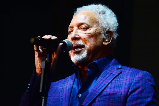 Postponed: Sir Tom Jones was due to perform in Bitts Park in July, though the gig has now been moved to July 25 next year