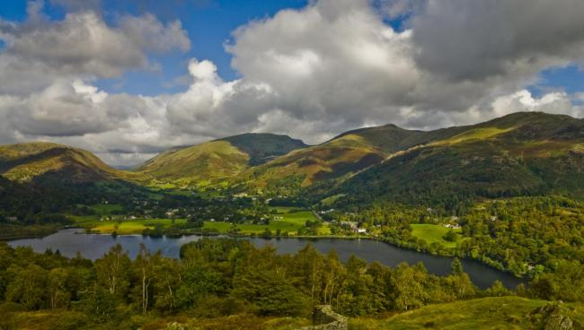 Grasmere in the heart of the Lake District National Park