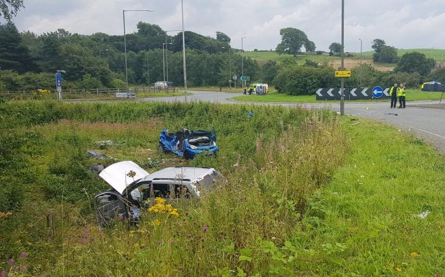 Woman in 60s airlifted to hospital after serious two car crash on