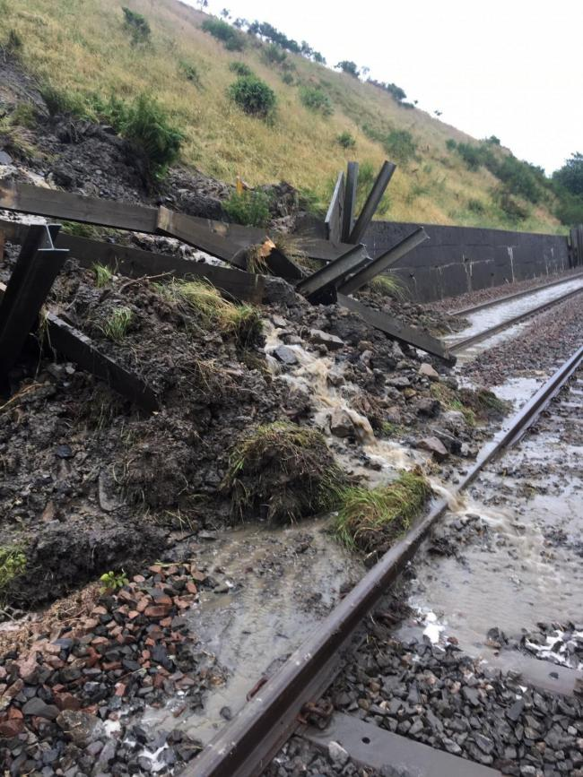 Dent Head: This landslip affected the Settle-Carlisle line