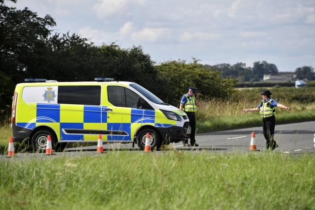 Scene of the double fatal road traffic collision on the B5302 Wigton to Silloth road