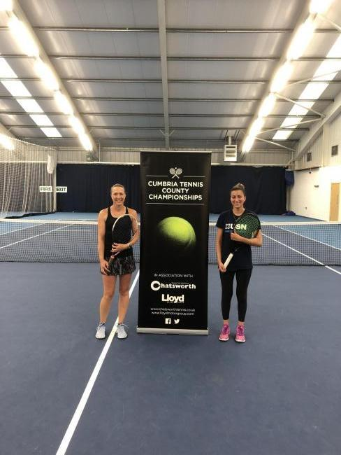 SPORT: Tracey Burrus, Tennis Manager, Chatsworth Tennis Club, with Habiba Hassan, of Lazonby