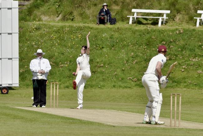 Mike Slack: The Carlisle pro took a superb 7-15 in his side's 10-wicket win (Photo: David Hollins)