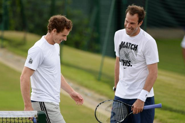 Greg Rusedski (right) believes Andy Murray's decision to miss out on the US Open is the right one.