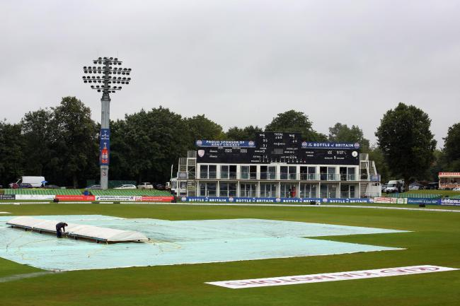 Rain delayed proceedings at Canterbury
