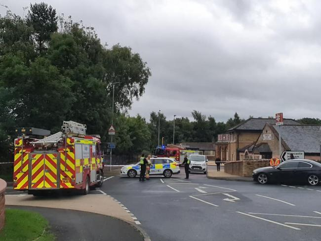 CLOSURE: Police attended the scene near Haltwhistle station on Thursday evening.   Picture: Adam Sparrow