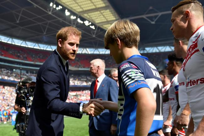 The Duke of Sussex attends the Rugby League Challenge Cup Final (Adam Holt/PA)