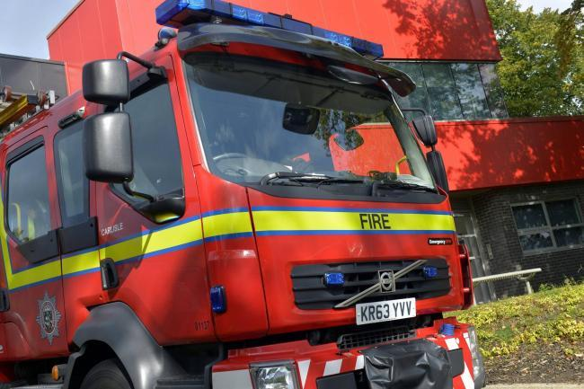 Crews from five stations tackle house on fire in Caldbeck