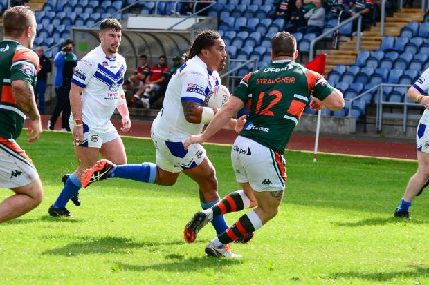 BRUTE FORCE: Fuifui Moimoi crossed for a brace of tries       Gary McKeating