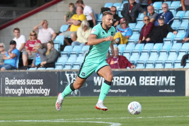 Back: Hallam Hope is expected to be in contention for Carlisle United's trip to Stevenage on Saturday after returning from international duty (Photo: Barbara Abbott)