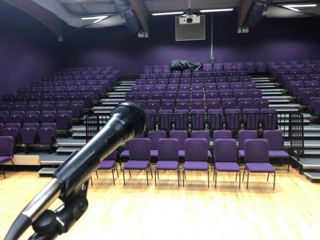 STAGE: The theatre at Harraby Community Centre hosts several events, including a regular film club            Picture: Kris Tatum