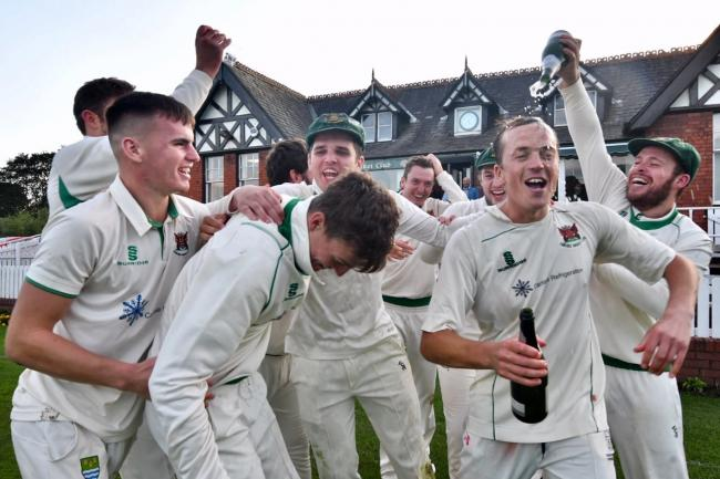 Victory celebrations: Carlisle hope to defend the Cumbria Premier League title they won in 2019           Mark Mcalindon