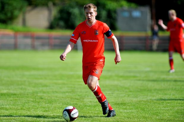 Workington Reds v Pickering Town football.Conor Tinnion.PHOTO TOM KAY       17 AUGUST 2019.