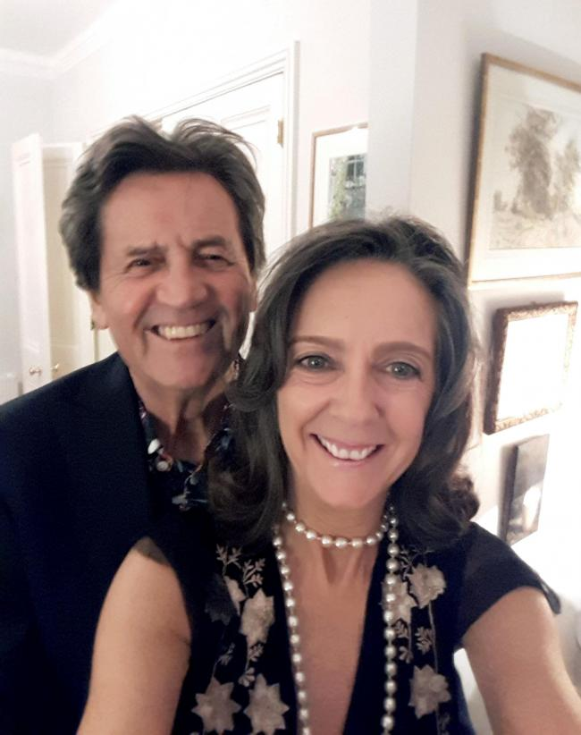 Happy couple: Melvyn Bragg and Gabriel Clare-Hunt