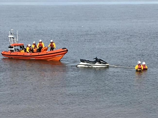 HELP: A jet skier had to be rescued after the watercraft lost power near Silloth             Picture: Silloth RNLI Lifeboat