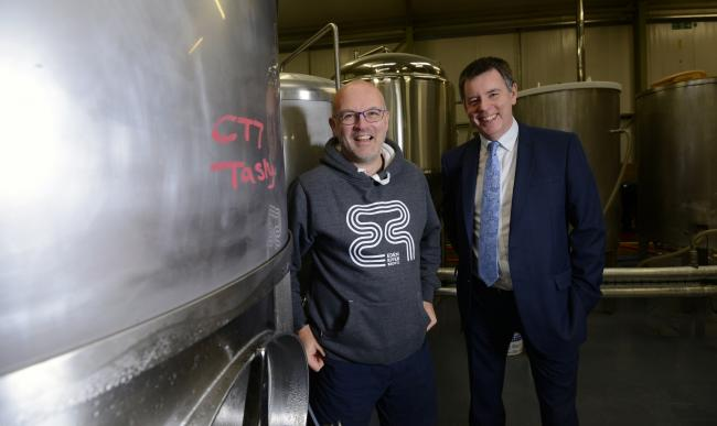 Eden River Brew Company Jason Hill with Grahame Latus from Enterprise Answers ©Sheenah Alcock Photography.