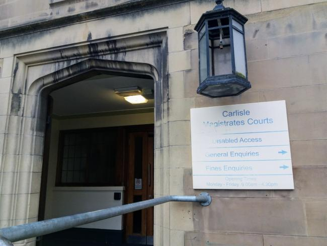 Court order: Georges Feghali has been banned from returning to his home by a judge at Carlisle's magistrates' court