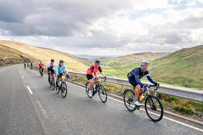 Deloitte Ride Across Britain tackling Shap Fell Picture Threshold Sports 11/09/19