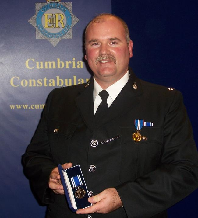 n PC Bill Barker died during the 2009 floods when Northside Bridge in Workington collapsed