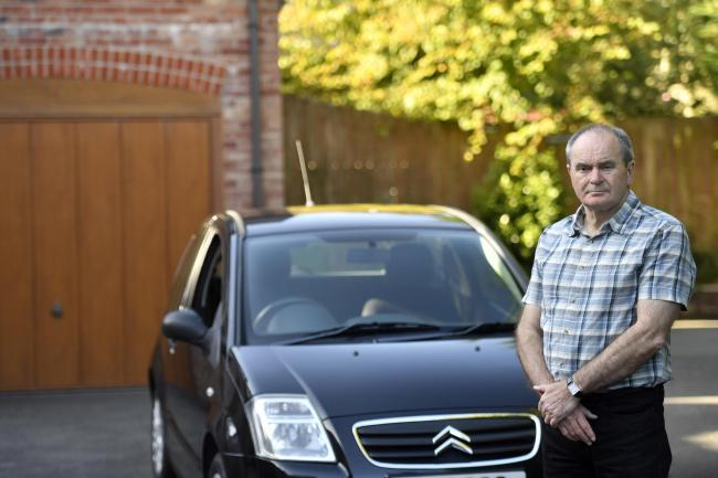 FINED: John Edington, of Oughterside near Aspatria, was parked while buying kitchen                    Picture: Stuart Walker
