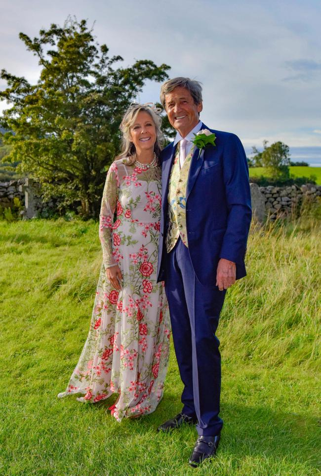 Happy couple: Gabriel Clare-Hunt and Melvyn Bragg on their wedding day.               Photo: Andrew Simpson / AMS Photography