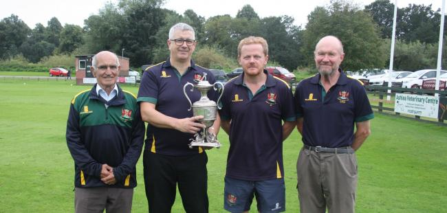 Backroom staff: Carlisle Cricket Club's unsung heroes, from left, vice-chairman David Reed, chairman Mike Rayson, secretary Mark Davidson and first-team scorer Colin West (Photo: Olly Alcock)