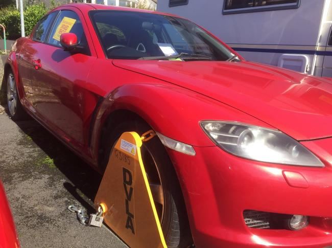 CAUGHT: Untaxed vehicles in and around Carlisle have been clamped in the latest crackdown by police and Carlisle city council                Picture: Cumbria Police
