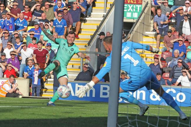 Thomas: Denied by Bradford keeper (photo: Barbara Abbott)