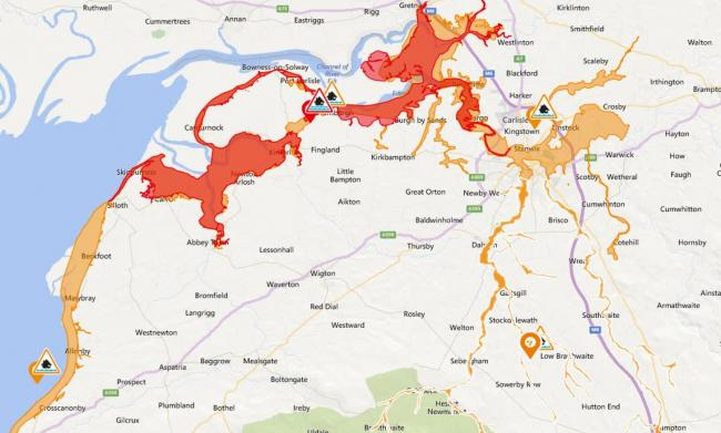 Flood alerts and warning issued by the Environment Agency for north and west Cumbria on September 30, 2019