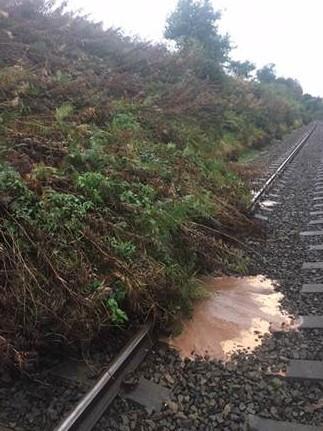 Network Rail assessing landslip at Wetheral