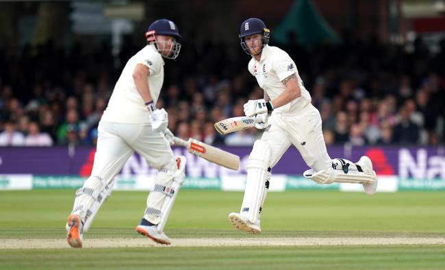 Support: Jonny Bairstow, left, and Cumbrian Ben Stokes