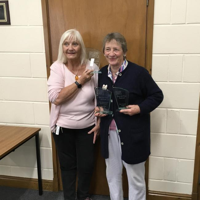 Alison Shutt and Amanda Dyer from U3A drama group in Cockermouth, who won three awards in festival