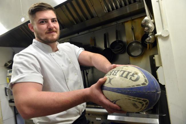 Chef Eddie Faulder who will play for the Cyprus national rugby team today