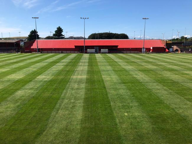 Borough Park, the home of Workington Reds, has seen a lot of volunteer work during pre-season to get the ground ready for the start of the new season. Picture: Workington AFC