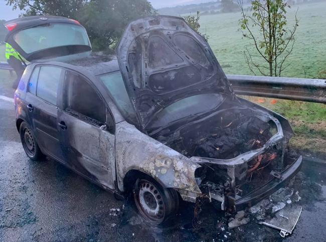 INCIDENT: Fire crews were called to the M6 north of Carlisle on Saturday morning. Two lanes were closed while crews were on the scene            Picture: Carlisle East Fire Station