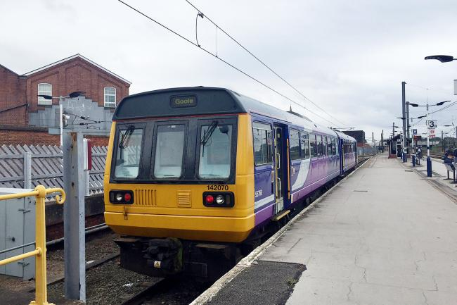 A Pacer train operated by Northern