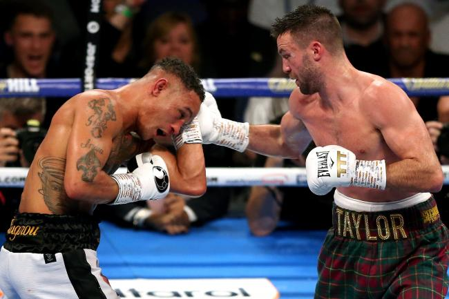 Josh Taylor (right) unified the super-lightweight division with a majority decision win over Regis Prograis at O2 Arena