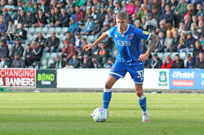 Elias Sorensen: The Carlisle United frontman is on loan from Newcastle (Photo: Barbara Abbott)