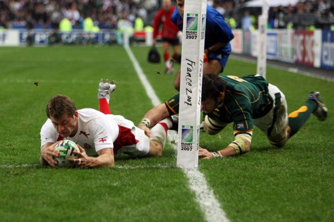 No try: Cumbrian Mark Cueto scores for England against South Africa in 2007 but his effort was disallowed by the referee