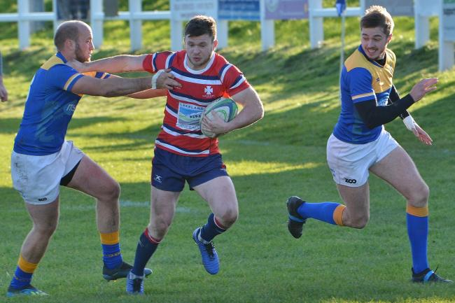 Grant Connon: Scored all of Carlisle's 20 points in the defeat at Alnwick             Bill Glendinning