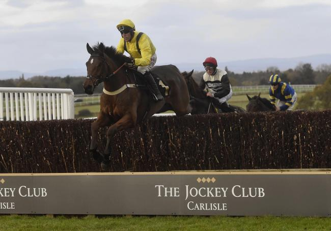 CLASS ACT: Lostintranslation, ridden by jockey Robbie Power, eases to victory in the Colin Parker Memorial Intermediate Chase at Carlisle on Sunday